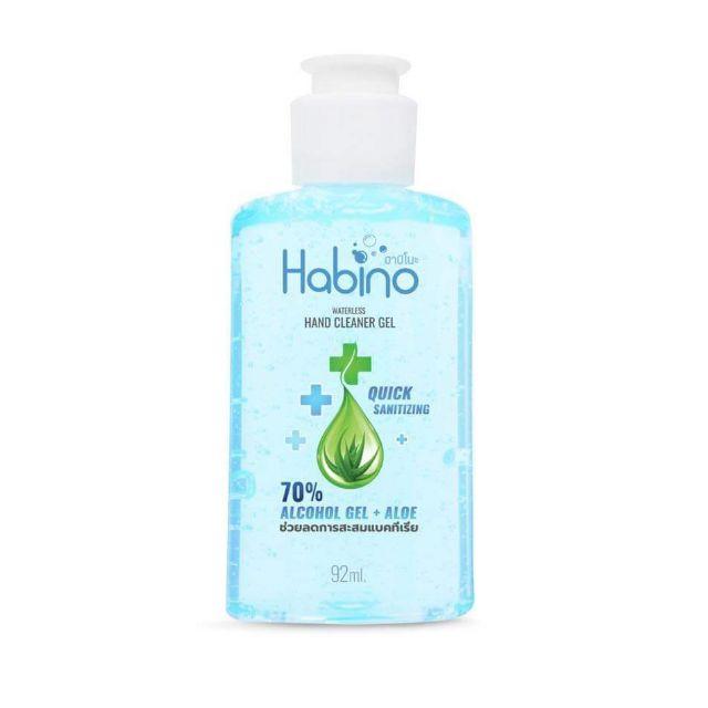 (พร้อมส่ง)Habino  เจลล้างมือ ป้องกันเชื้อโรค ฮาบิโนะ  ALCOHOL HAND GEL + ALOE VERA 92ml.