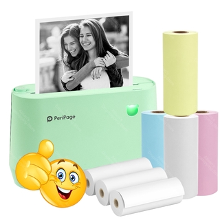 please COD New Arrival Peripage A9 PRO Pocket Photo Printer Thermal Label Notes 300dpi Printer Android iOS Phone Printer