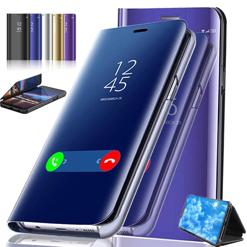 เคสโทรศัพท์ Samsung Galaxy A42 5G เคส Flip Case Clear View Stand Mirror Folio Phone Cover for Samsung Galaxy A12 5G Casing