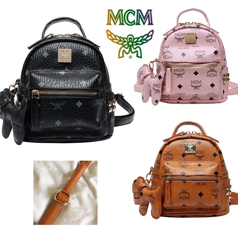 MCM_ มาใหม่!!! กระเป๋าสะพายหลังขนาดเล็ก / กระเป๋าเป้สะพายหลังโรงเรียน / กระเป๋าสะพาย / กระเป๋าเดินทาง 3 สีให้เลือก
