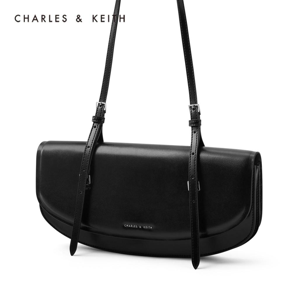 ❧☃ กระเป๋ากระเป๋าเดินทาง Charles & keith2021ฤดูร้อนสินค้าใหม่ CK2-20781397ผู้หญิงกระเป๋าใบเล็กไหล่เดียวใต้วงแขนกระเป๋าบา