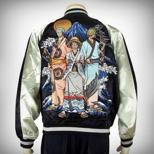 SUKAJAN ONEPIECE แบรนด์แท้ญี่ปุ่น Japanese Souvenir Jacket แจ็คเกตซูกาจันลาย วันพีส