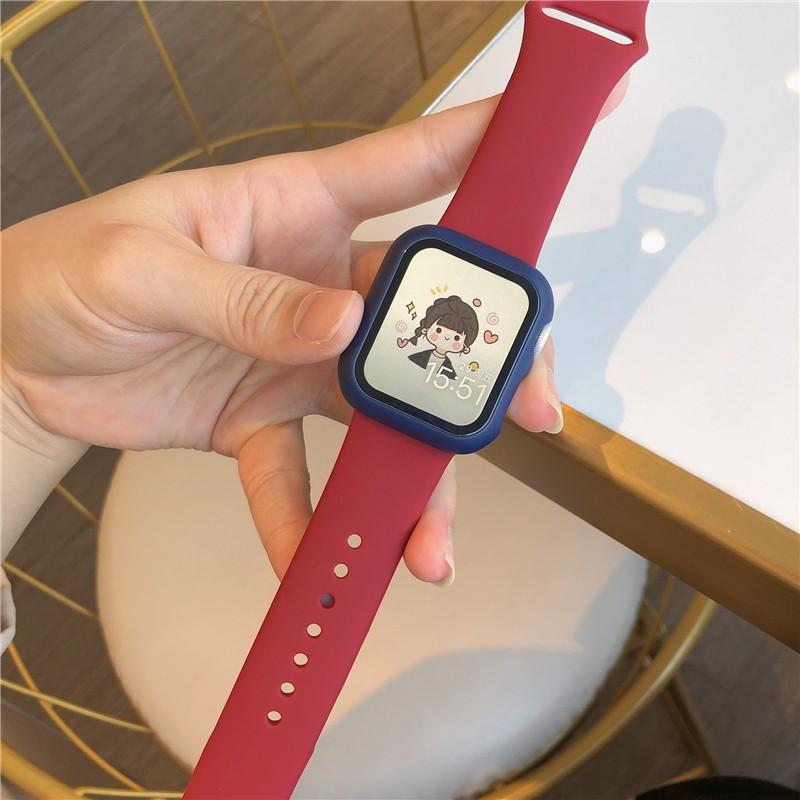 ✆卐ชุดซิลิโคนกีฬา iwatch คลาสสิกสายนาฬิกา Apple 1-6 รุ่น se series universal Applewatch5  【จัดส่งฟร】
