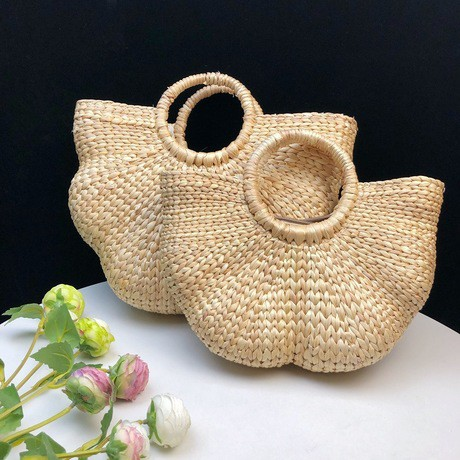 ✺กระเป๋าหวายกระเป๋า messenger กระเป๋าฟางสานดอกไม้ถักบิดกระเป๋าถือกระเป๋าเดินทางวันหยุด
