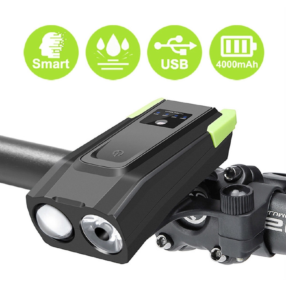 4000mAH USB LED Rechargeable Bike Bicycle Front Headlight Lights Mountain Cycle