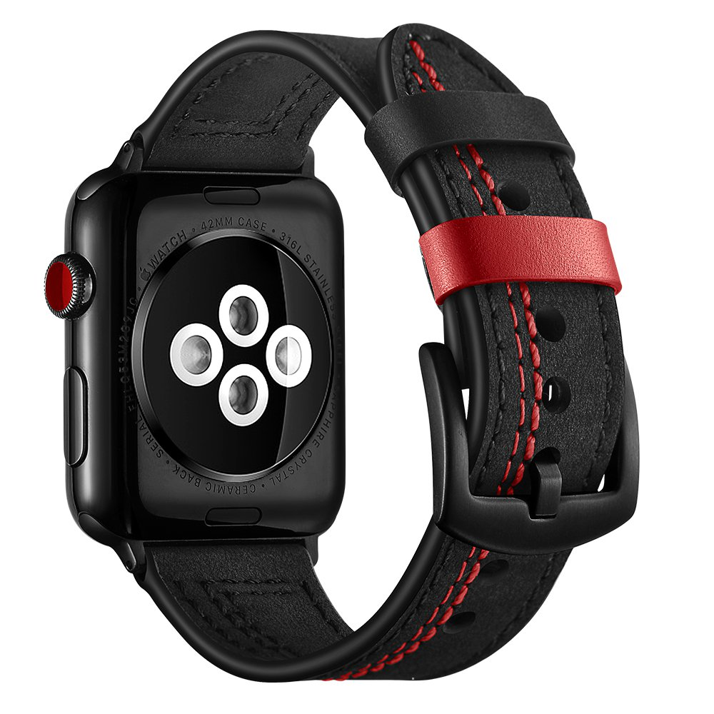 Band For Apple Watch 6 SE Band 38mm 42mm Real Leather Watchband iWatch Strap 40mm 44mm Series 5 4 3 2 1 Suture Bracelet