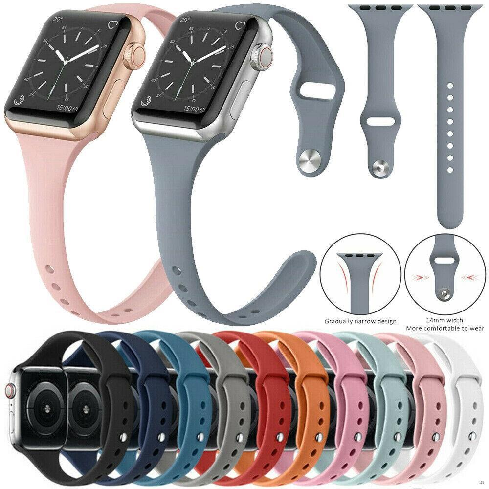✓สาย applewatch 38/40mm 42/44mm สายซิลิโคนสำหรับ Apple Watch Band Series 4 3 2 1 ขนาด