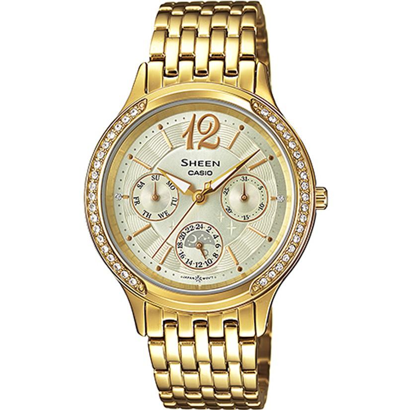 Casio นาฬิกา นาฬิกาผู้ชาย สายสแตนเลส รุ่น SHE-3030BGD-9 - Gold