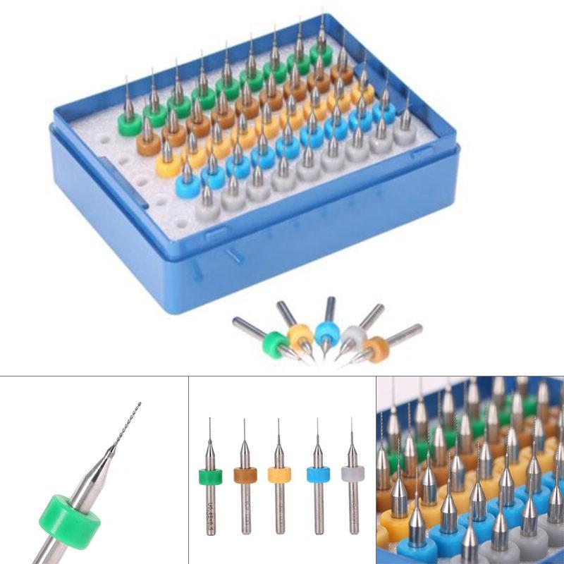 Set of 20 Tungsten Carbide Micro Drills for PCB