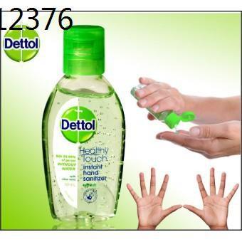 dettol เดทตอล ✍ถูกสุด Dettol เจลล้างมือ ไม่ใช้น้ำ เจลแอลกอฮอล์  70%  สูตรหอมสดชื่นผสมอโลเวล่า 50 มล. เดทตอล เดตตอล ของแท