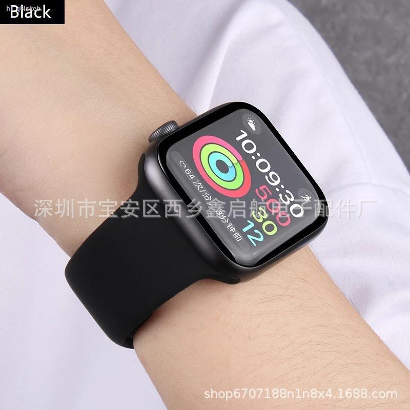 watch สายนาฬิกา✟❃ใช้ได้กับ AppleWatch series 4 สายรัดซิลิโคนของ Apple สายรัดสีกันน้ำ 32 สีเฉพาะจุดขายส่ง