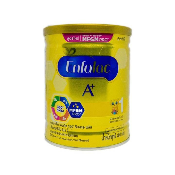 Enfalac A+ 1 เอนฟาแลค เอพลัส สูตร 1 400 กรัม EXP. 19/12/20