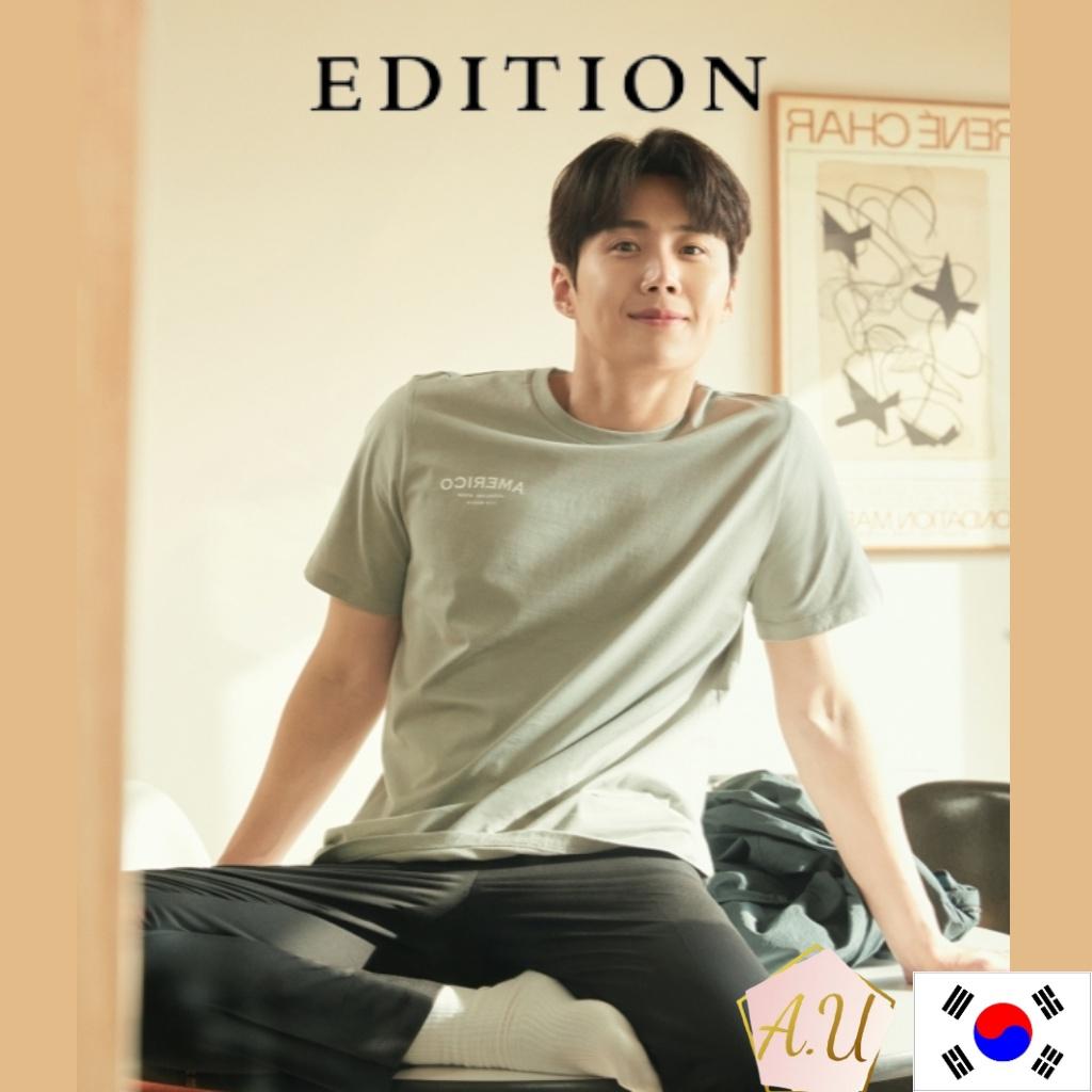 [EDITION] Edition sensibility kim seon ho WHITE SAND T-shirt kim seon ho merch men clothes korea fashion Korean drama  k