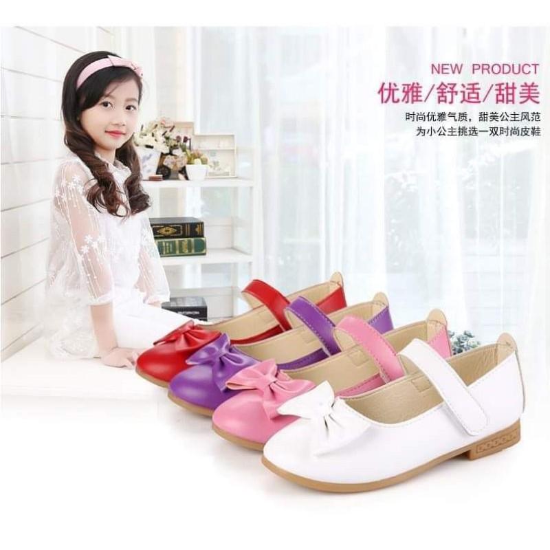 รองเท้าคัชชูเด็ก B117 รองเท้าออกงาน เด็กหญิง 21-32 พร้อมส่งจากไทย