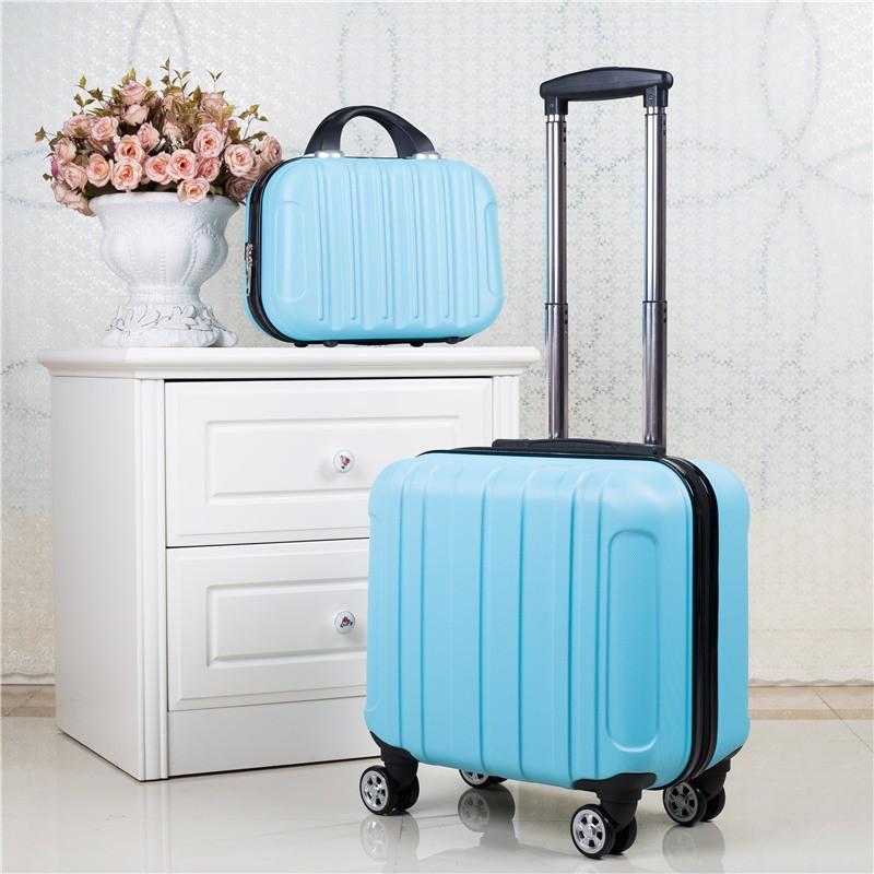 กระเป๋าเดินทาง ล้อลากแบบหมุนรอบทิศ  ขนาด 17 นิ้ว พร้อม กระเป๋าเสริม 14 นิ้ว