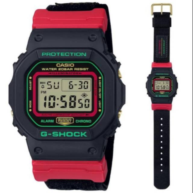 Casio G-shock Dw-5600thc-1dr นาฬิกาข้อมือแฟชั่นผู้ชาย