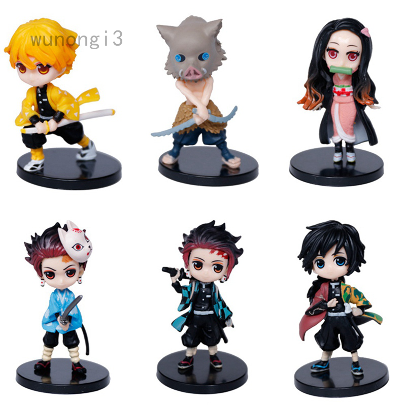 6 pcs Demon Slayer's Blade Figure Doll Model Toy