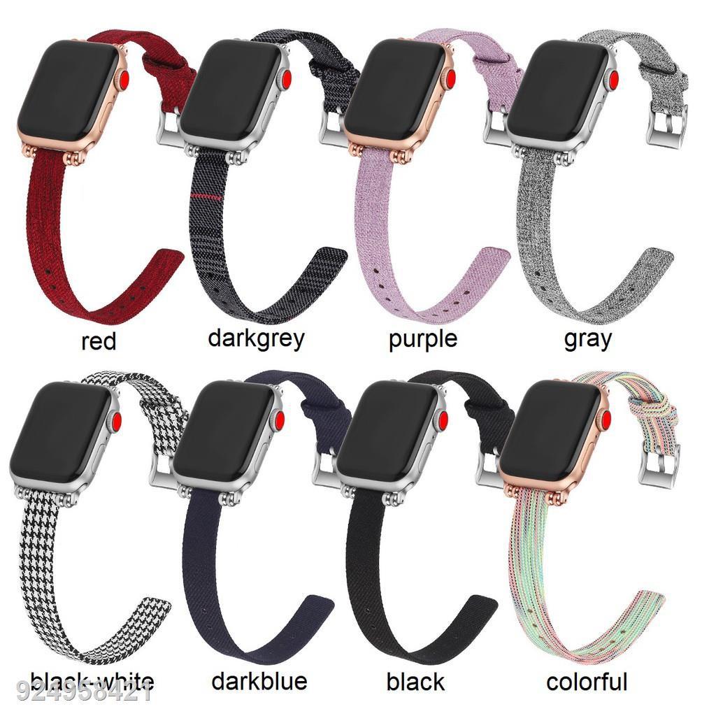 ☍สายนาฬิกา Apple Watch สาย Premium Canvas applewatch Series 1/2/3/4/5/6,Apple SE iwatch สายนาฬิกาข้อมือ size 38mm 40mm
