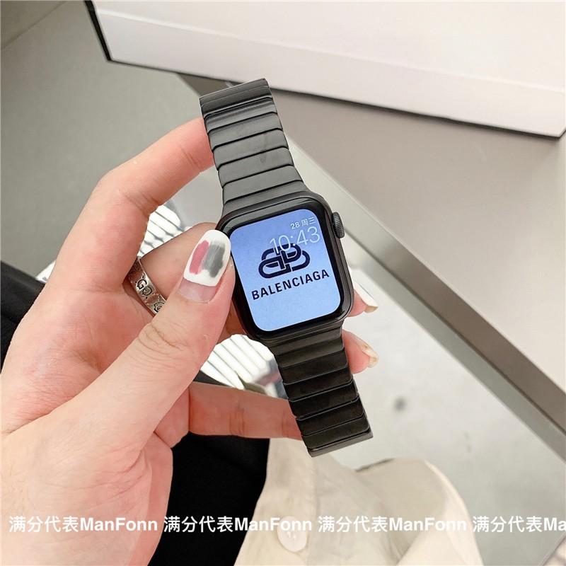 เคสนาฬิกา applewatchบังคับแอปเปิ้ลapplewatchนาฬิกาiwatch6/SE/5/4/3รุ่นโซ่สแตนเลสโลหะชายและหญิงapplewatch