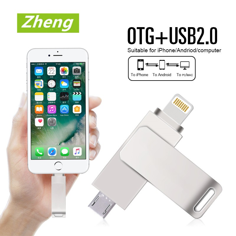 512GB USB Micro-USB Android Smart Phone Tablet OTG Flash Memory Drive For iPhone