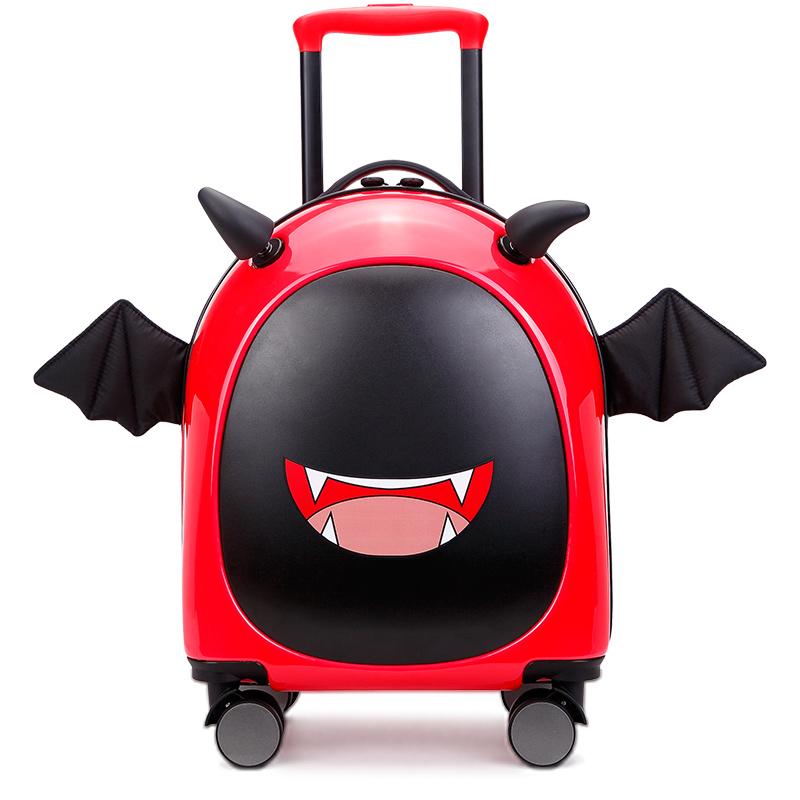@π กระเป๋าเดินทางล้อลาก กระเป๋าเดินทางล้อลากใบเล็กเด็กกระเป๋าผู้ชาย16นิ้วเด็กการ์ตูนรถเข็นกล่องเด็กน่ารักกระเป๋าหนังขนาด