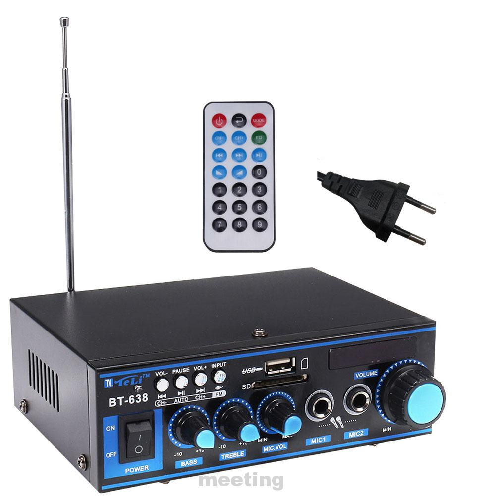 Bluetooth Digital Music With Remote Controller Power Amplifier