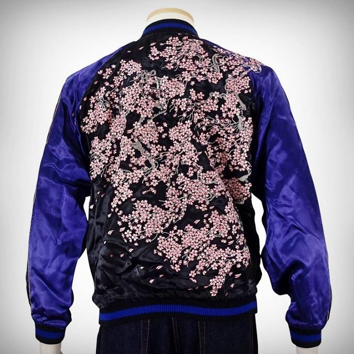 SUKAJAN แบรนด์แท้ญี่ปุ่น Japanese Souvenir Jacket แจ็คเกตซูกาจันลาย SAKURA