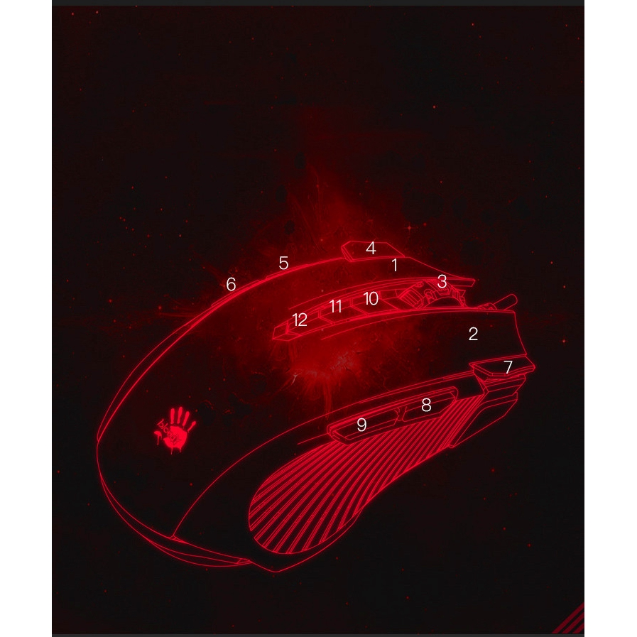 A4TECH Bloody Wired Gaming Mouse J90,Support For Mouse  Macros เมาส์สำหรับเล่นเกม