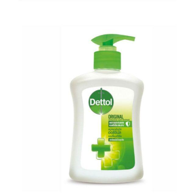 ถุงเติมเจลล้างมือเจลล้างมือเจลล้างมือพริก﹊สบู่ล้างมือ Dettol Antibacterial Handwash ขนาด 225 mI. ยับยั้ง Bacteria ได้ถึง