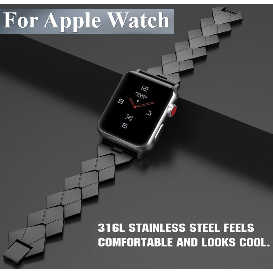 Apple Watch Straps Stainless Steel Applewatch Series 6 5 4 3, Apple Watch SE Watchband iWatch Series6 band iwatch size 38mm 40mm 42mm 44mm