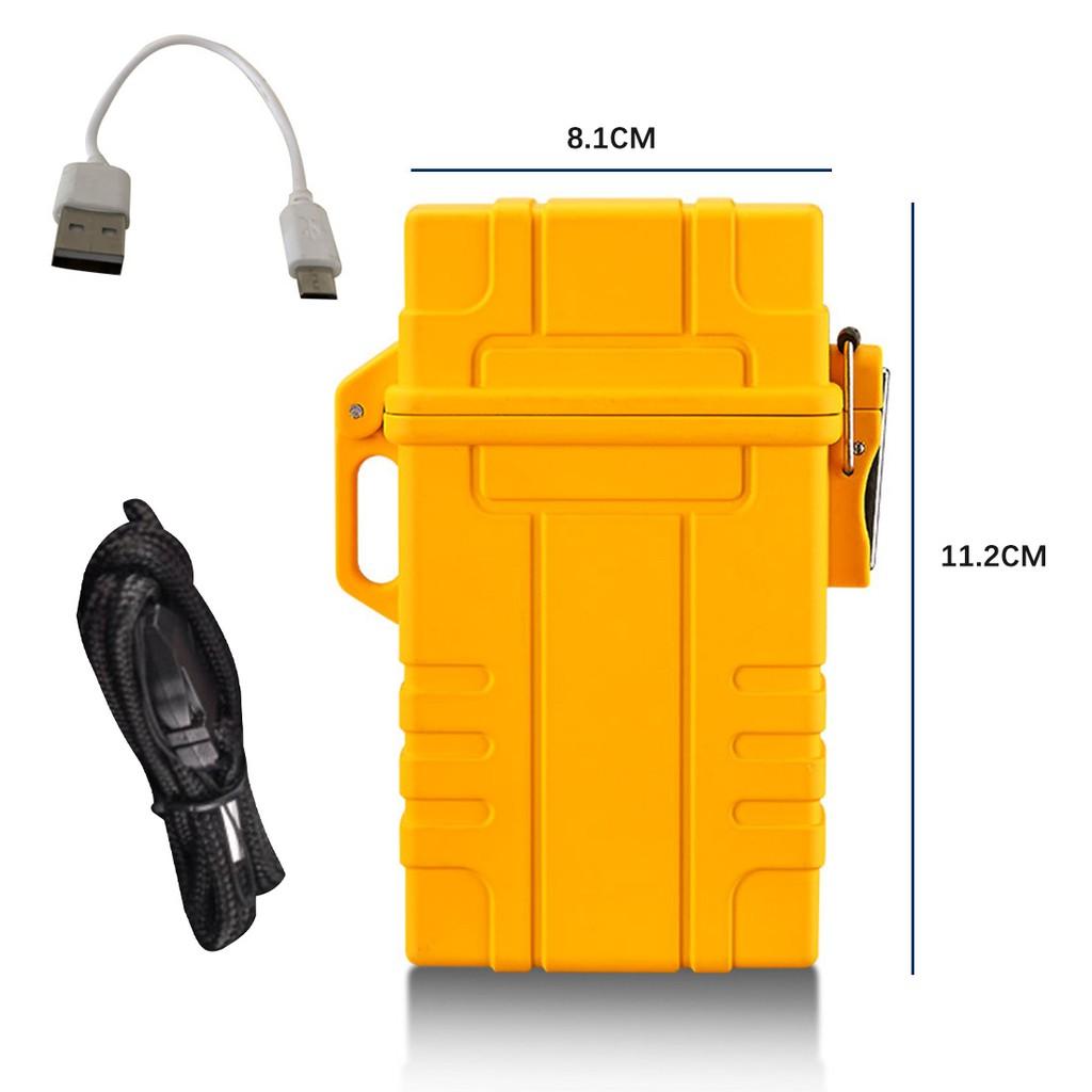อุปกรณ์ซิการ์:2021 New Cigarette Case with USB Electronic Lighter Cigar Holder Cigarette Lighter for Regular Cigarette G