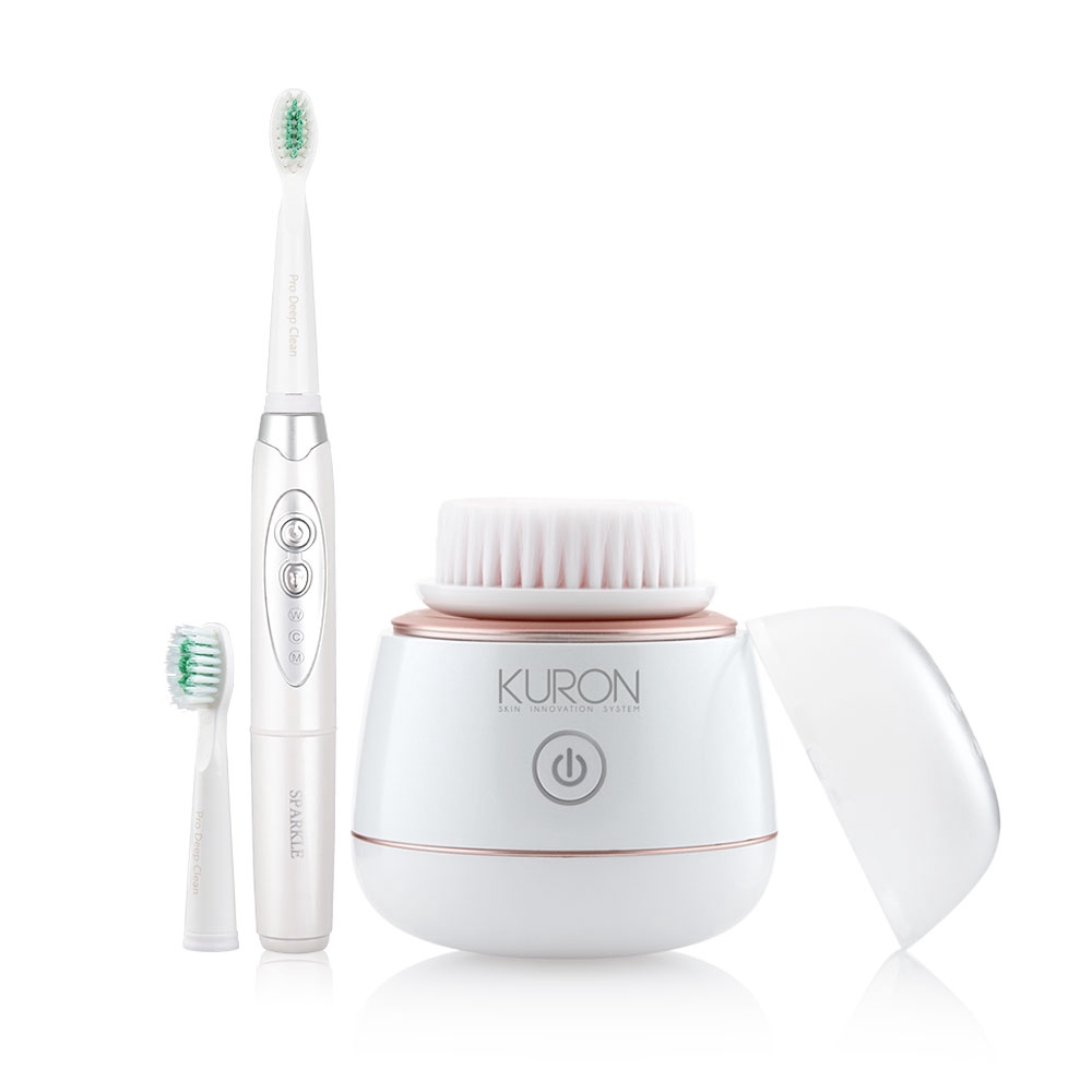 Kuron Mini Sonic Brush (KU0139) + Sparkle Sonic Toothbrush Pro Active (SK0372).