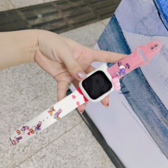 สายรัดพิมพ์ลายแบรนด์แฟชั่นใหม่ Apple Watch strap สายซิลิโคน iwatch series SE 6 5 4 3 2 1สาย applewatch 38 40 42 44mm