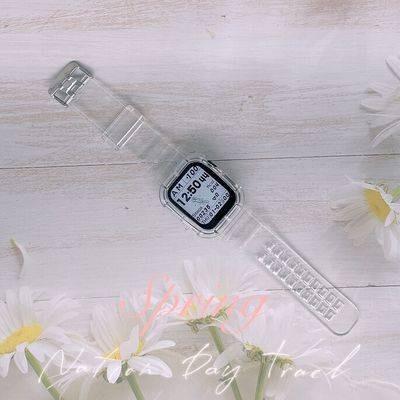 สายนาฬิกาอัจฉริยะ สายนาฬิกา สาย applewatch สายนาฬิกา applewatch AppleWatch1 / 2 / 345se6 Universal Transparent Connected