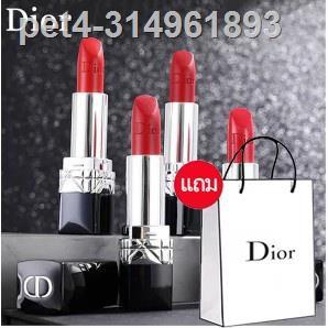 🔥hot🔥✠✵□ลิปสติก Dior Lip Glow Rouge Dior Matte Lipstick Couture Colour Comfort and Wear Lipstick, 999 ลิปสติกดิออร์ ลิ