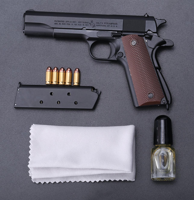 โมเดลทหารโลหะผสม1911ปืนโมเดลโลหะ1;2.05รุ่นโยนเปลือกถอดออกได้