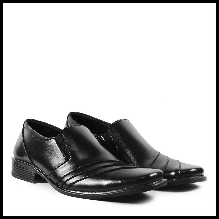 Pantofel รองเท้าผู้ชาย Cro Ile ลําลองอย่างเป็นทางการสีดํา