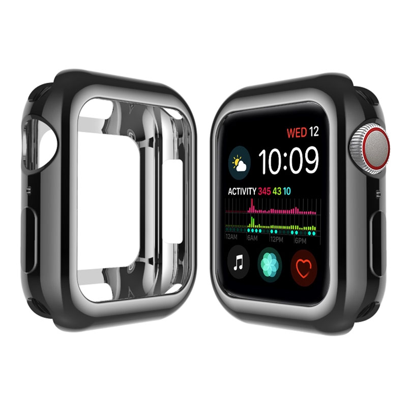 Apple Watch Case 38mm 40mm 42mm 44mm iWatch Series 5 4 3 2 1 TPU Plated Anti-Scratch Cover