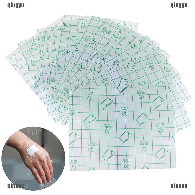 QYTH span-new 10Pcs transparent adhesive wound dressing plaster stretch  fixation swank