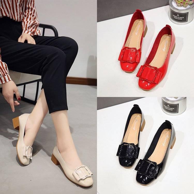 ✨✨ คัชชูหัวแหลม ผู้หญิง รองเท้าส้นสูงแฟชั่นขายดี รองเท้าคัชชูส้นสูง  F034 ✨✨