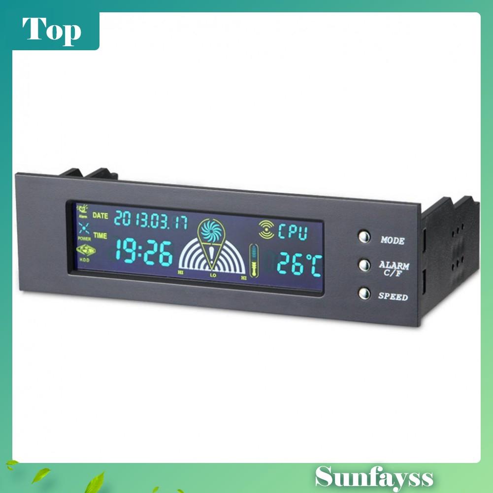"5.25/"" Panel Cooling Fan Speed Control Controller CPU Hd Temperature Sensor Pc"
