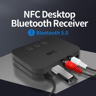 Ti-800 5.0 ตัวรับสัญญาณบลูทู ธ Audio Music Stereo Wireless Adapter Support NFC 3.5MM USB RCA Jack for All Bluetooth Audio Devices