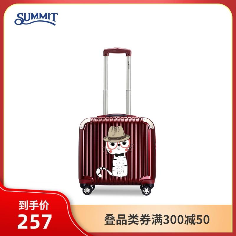 กระเป๋าเดินทางการประชุมสุดยอด18กรณีรถเข็นนิ้วหญิงมินิ16-กระเป๋าเดินทางโครงบอร์ดขนาดนิ้ว เล็กไปหน่อยinsกระเป๋าเดินทางล้อส