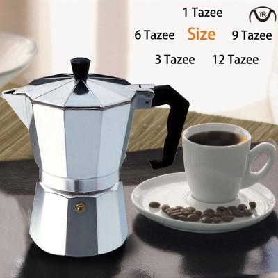 เครื่องชงกาแฟ Moka pot Espresso Percolator Pot หม้อต้มกาแฟทำจากอลูมิเนียมฮีตเตอร์เตาไฟฟ้า