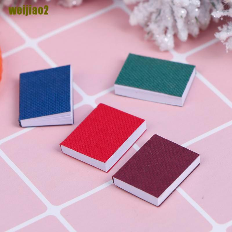 weijiao2 4pcs/set 1/12 Dollhouse Miniature Mini Books Model Furniture Accessories ZHU