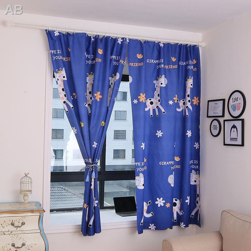 【เจาะฟรี】ม่านบังแดดผ้าม่านสำเร็จรูปม่านห้องเช่าม่านหอพักผ้าม่านระบายอากาศ