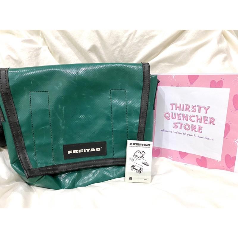 Used มือสอง กระเป๋า Freitag รุ่น Lassie สีเขียว เหนี่ยวทรัพย์ ของแท้ 100%