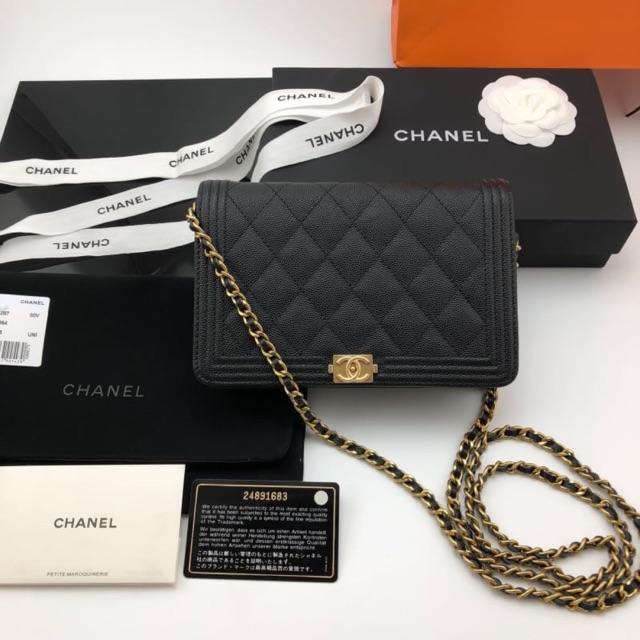 กระเป๋า Chanel woc na boy origi leather พร้อมส่งค่ะ