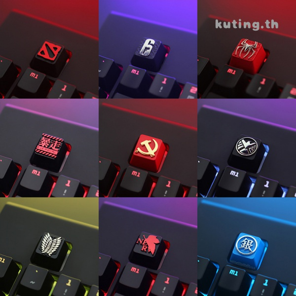 KeyStone  Keycap 1 Pcs Attack On Titan Game Of Thrones Marvel Theme Aluminum Alloy Metal Mechanical Keyboards Keycaps R4 Height For Cherry MX Switch