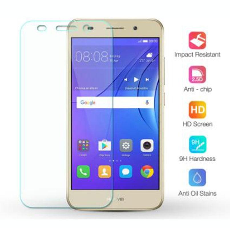 """ฟิล์มกระจกนิรภัยป้องกันรอยหน้าจอสําหรับ Huawei Y3 2017 5.0"""" Cro-l02 Cro-l22 Cro-l03 Cro-l23 Cro-u000 9h 2.5d 6d"""